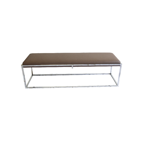 Brown Metal Frame Bench – The Lounge
