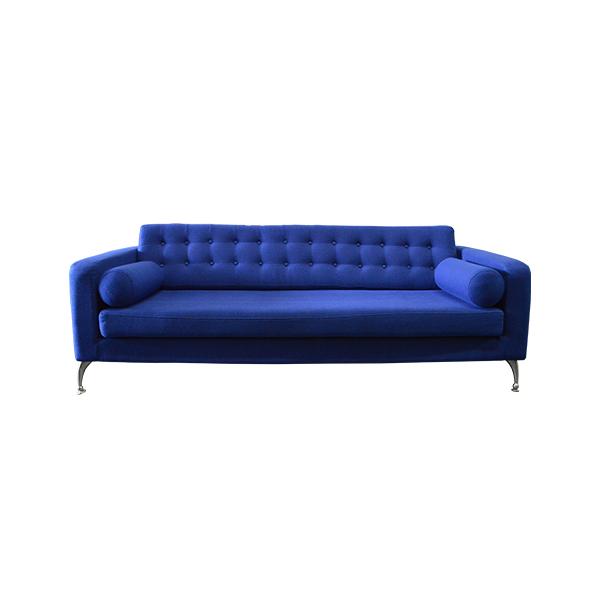 Blue Hessian Sofa The Lounge
