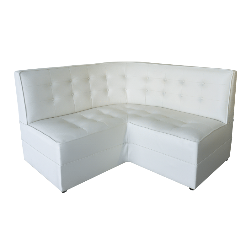 Retro Corner White Sofa