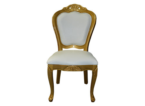 White And Gold Dining Chairs: Dior White And Gold Chair